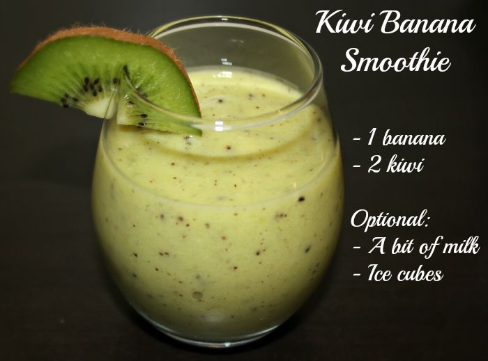 Kiwi - Banana Smoothie ( Healthy and Delicious )