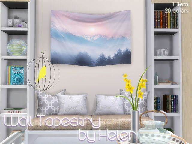 Sims 4 cc 39 s the best wall tapestry by helen simming for Room decor sims 4