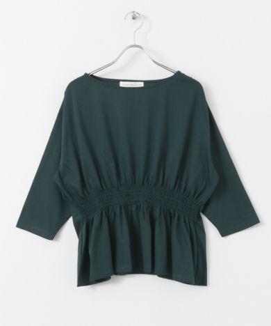 シャーリングペプラムTシャツ(7分袖) - URBAN RESEARCH ONLINE STORE