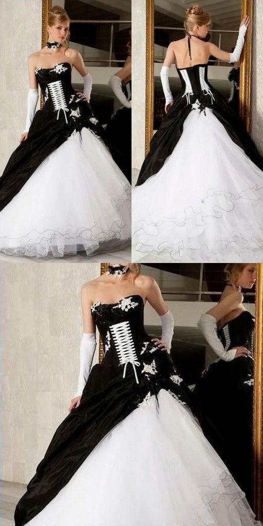 Brautkleider schwarz weiße Brautkleider Weiß