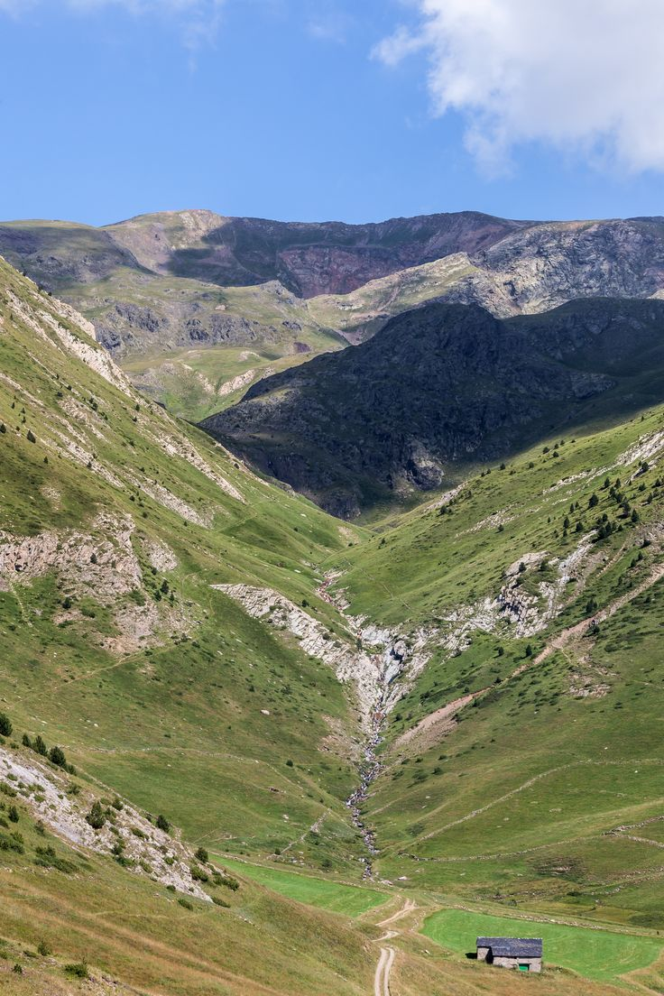 Between Coll d'Ordino and Canillo. Andorra