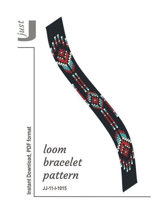 Bead loom pattern, native american bracelet, loom bracelet