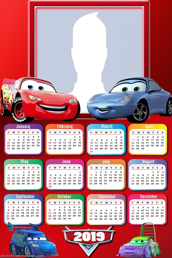 Calendrier Fun Car 2020.Cars Calendar 2019 Photo Collage Frame Photo Montage Free