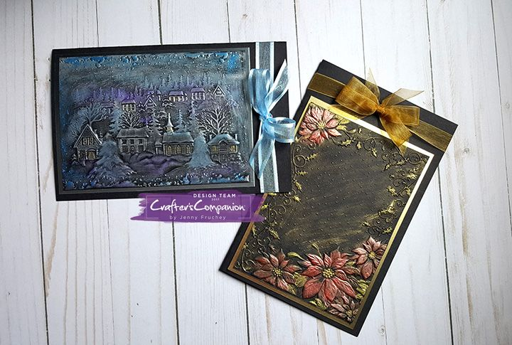 Beautiful 3D embossing folders from #crafterscompanion #hsn #hsncrafts #jenscraftyplace