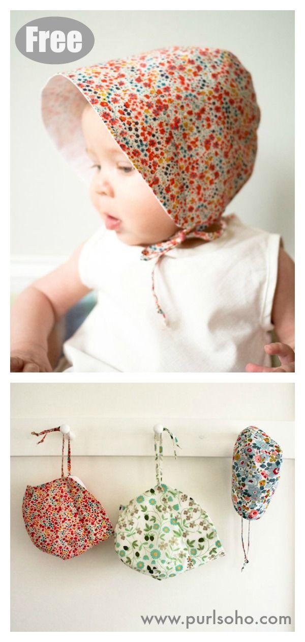 Baby Sun Bonnet Free Sewing Pattern #startsewingfr…