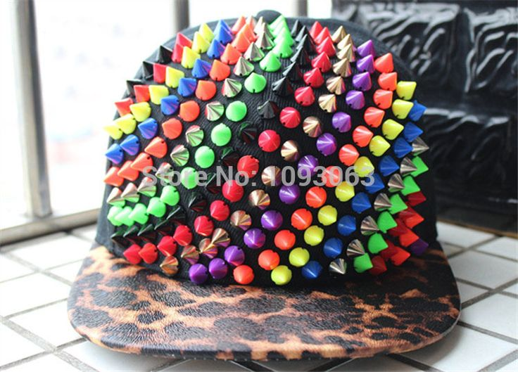 Crystal Acrylic Punk Hiphop Leopard Rivets Studs Cap Snapback Hat Baseball Performance Flat Peak-in Baseball Caps from Men's Clothing & Accessories on Aliexpress.com   Alibaba Group