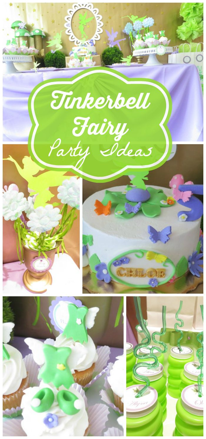 Check out all the details at this magical Tinkerbell fairy party! See more party ideas at CatchMyParty.com!