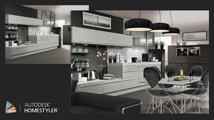 "Check out my #interiordesign ""Black kitchen"" from #Homestyler http://autode.sk/1mwr4oF"