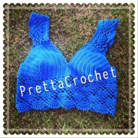 Pretta Crochet: Cropped de crochet princess