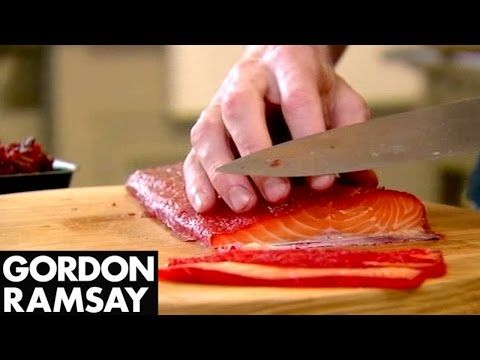 Beetroot Cured Salmon | Gordon Ramsay - YouTube