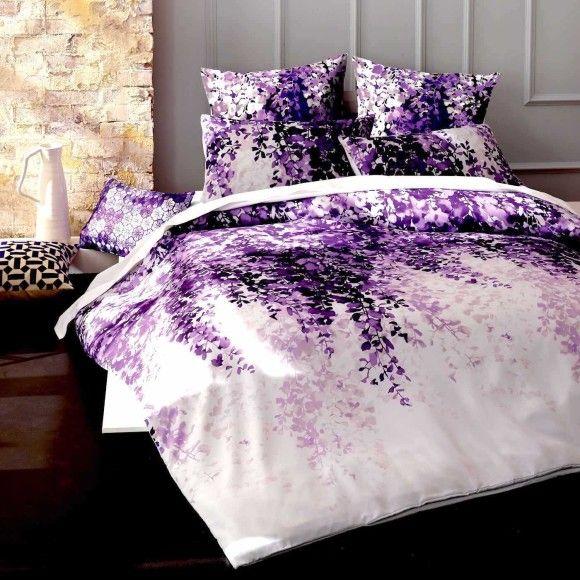 Josephine Purple Quilt Cover Set Hardtofind Quilt Cover Sets Quilt Cover Cotton Quilt Covers
