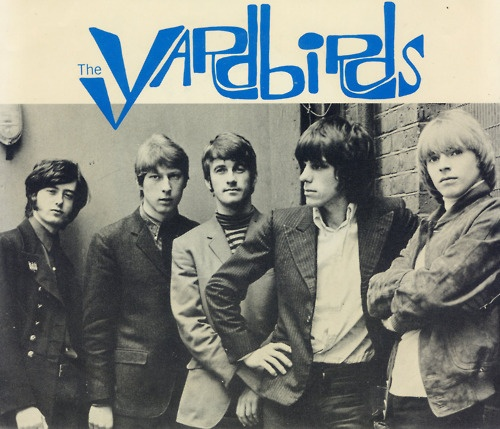 THE YARDBIRDS .....   Jimmy Page on the far left ..........    Eric Clapton next to him .........   Chris Dreja   .... Jeff Beck ......    .Keith Reiff