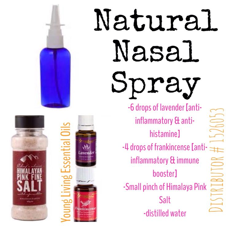 Best Allergy Relief Spray Add salt, then oils, wait a few seconds for salt to absorb oils , and then add distilled water.  Spray inside each nasal each morning or when you need allergy relief!