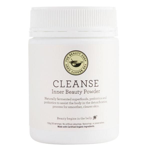 The Beauty Chef's Cleanse Inner Beauty Powder is a comprehensive super-greens supplement designed to help detox and purify your body on the inside, promoting sm