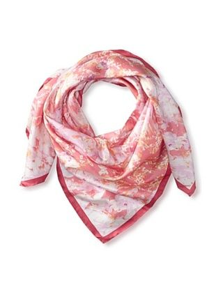 72% OFF Tahari Women's Silk Abstract Snake Print Square Scarf, Pink