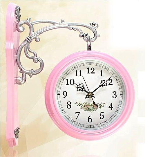 (via Pink Clock | ❤ Pink & Silver ~ Chantelle ❤ | Pinterest)