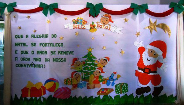 Painel De Natal Para Escola 20 Ideias Painel De Natal Arvore