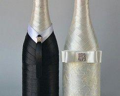 Champagne personalizada para casamento