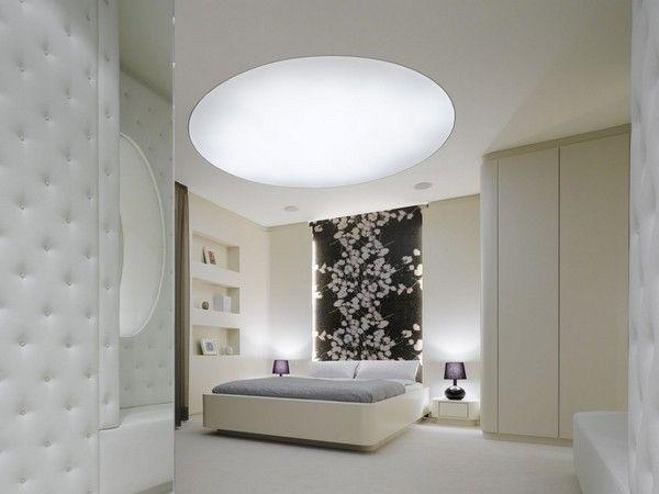 Luxus-Wohnung - minimalistische Schlafzimmer