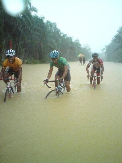 Monsoon season in Indonesia