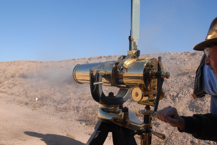 Gatling Gun in Action...Got to fire this bad boy!!!  What a Thrill!!!