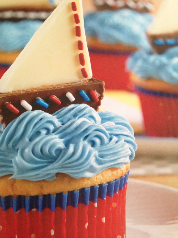 Pin by louise knight on yum sailboat cupcakes desserts