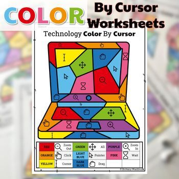 Technology Color By Cursor Printable Worksheets