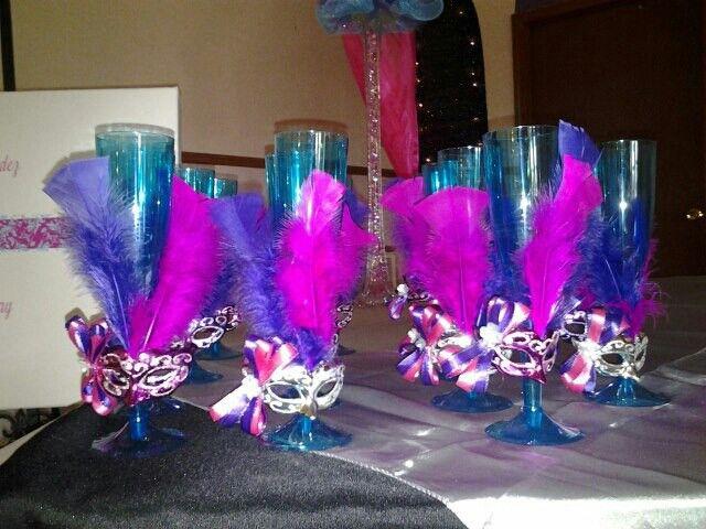 15 Anos Decorations Mesa: Masquerades, Sweet