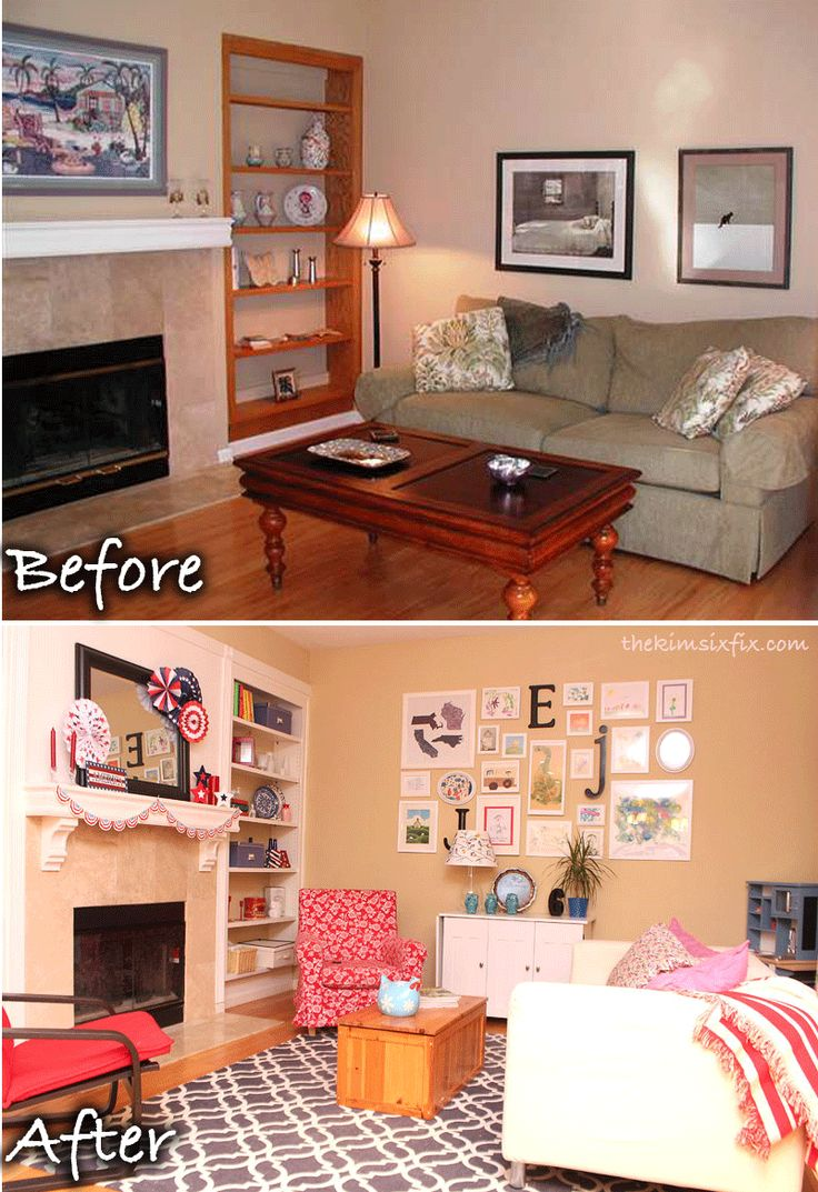 Come Tour Our Playroom! via TheKimSixFix.com How I turned the former formal living room, into a casual and relaxed space for the kids (but not so childish that adults can't hang out and watch TV too)