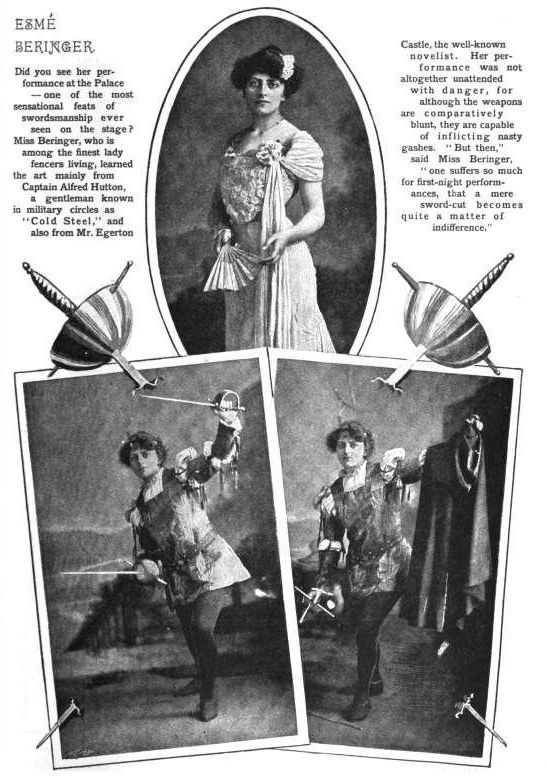 """fortezafitnessandmartialarts: """"Actress/swordswoman Esme Beringer was one of the few fencers known to have studied with both Egerton Castle and Alfred Hutton, and possibly the only one of their students to perpetuate aspects of their approach to """"ancient swordplay"""" into the 20th century."""""""
