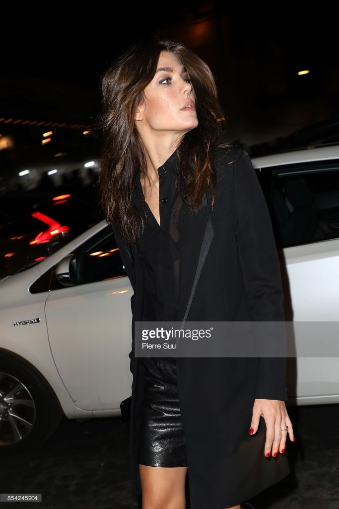 Charlotte Casiraghi arrives at the Saint Laurent show as part of the Paris Fashion Week Womenswear Spring/Summer 2018 on September 26, 2017 in Paris, France. (Photo by Pierre Suu/Getty Images)
