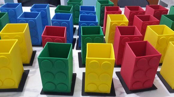 Porta Lápis Lego