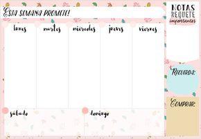 Bonjour Magique: Regalazo por mi cumpleaños: Planificador Semanal