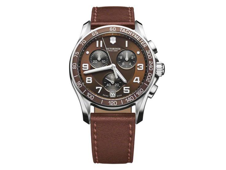 Victorinox.Chrono Classic 241498 Reloj para Caballero Color Café