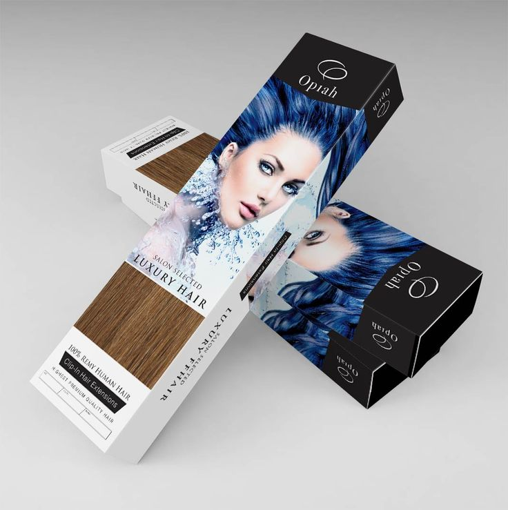 #HairExtensions Packaging design for Opiah Hair Extensions from UK Packaging Designer Darren McChrystal
