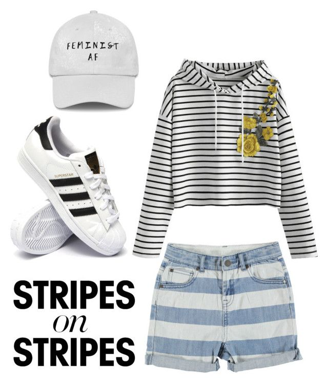 """Untitled #22"" by gmusc6 on Polyvore featuring STELLA McCARTNEY, adidas, stripesonstripes and PatternChallenge"