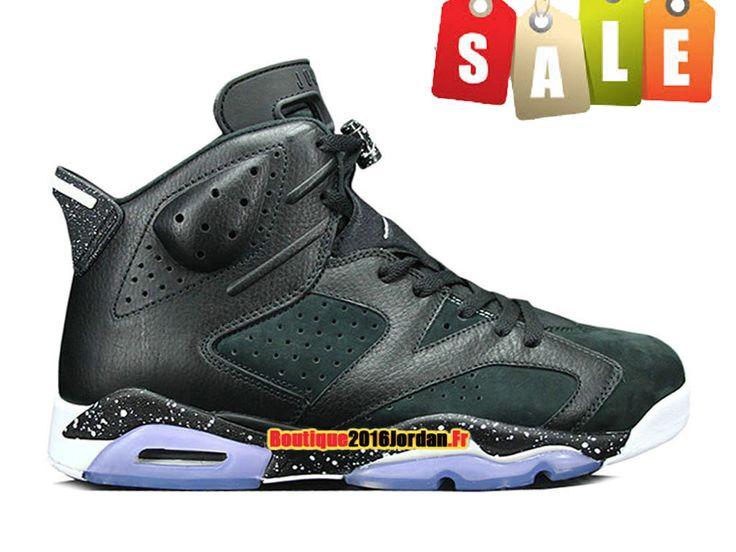 Air Jordan 6/VI Retro GS ´Black Oreo´ - Baskets Jordan Pas Cher Chaussure Pour Femme/Enfant Noir 384665-001A