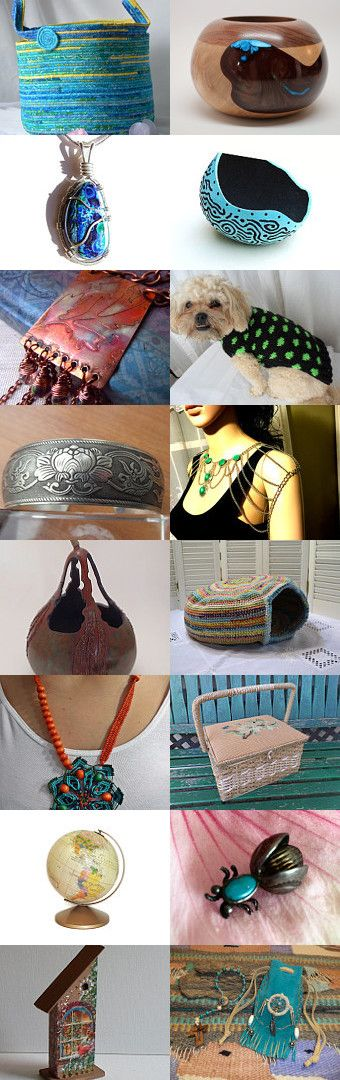 Tuesday Colage  by Amelia Smith on Etsy--#etsy #treasury #tropical #blue #basket #storage #organizer #moses #basket #picnic #basket Pinned with TreasuryPin.com