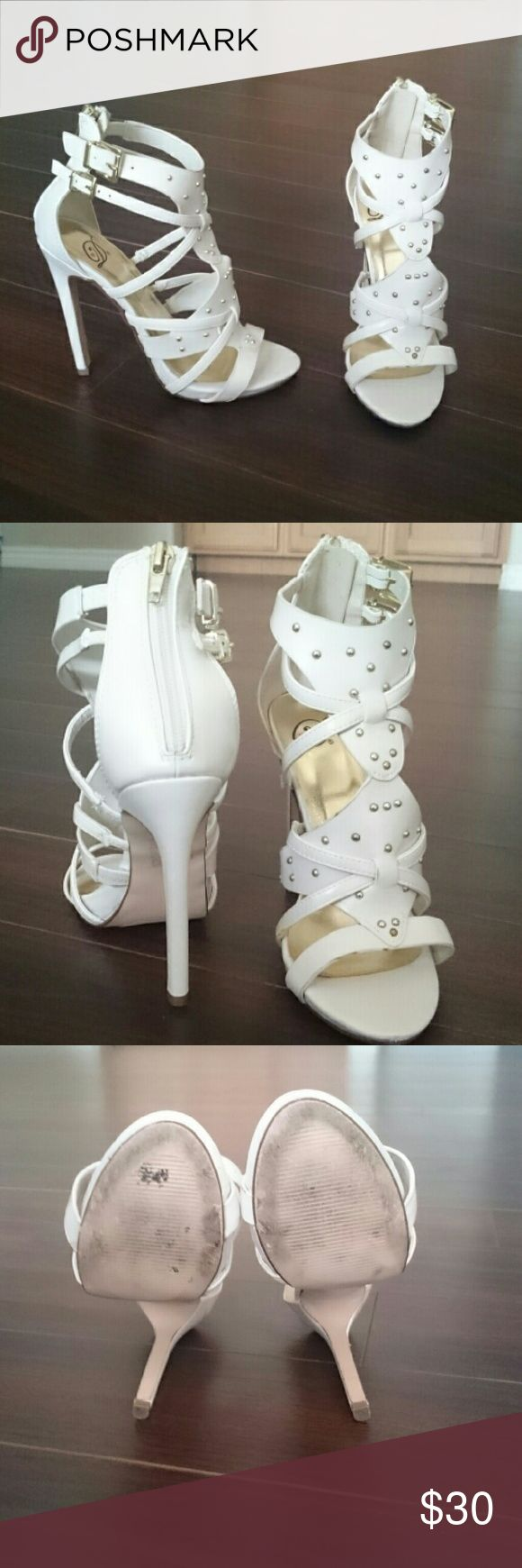 Flirty high heels ;) Gorgeous cream high heels, Pre-loved :) worn about 5x times  **NO TRADES** ^-^ Shoes Heels
