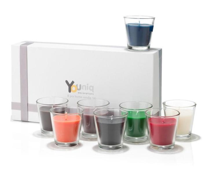 Youniq 8 Colored Candles in Giftbox