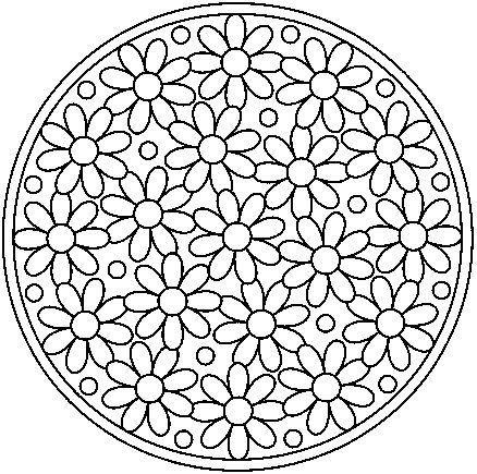 Un dessin de mandalas avec les fleurs