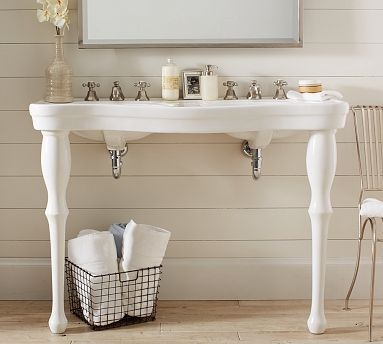 parisian pedestal double sink console this for small spaces