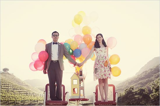 Disney Pixars Up Engagement Shoot...........So wonderfully creative!