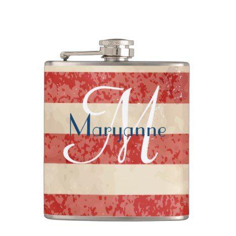 Vintage American Flag Flask