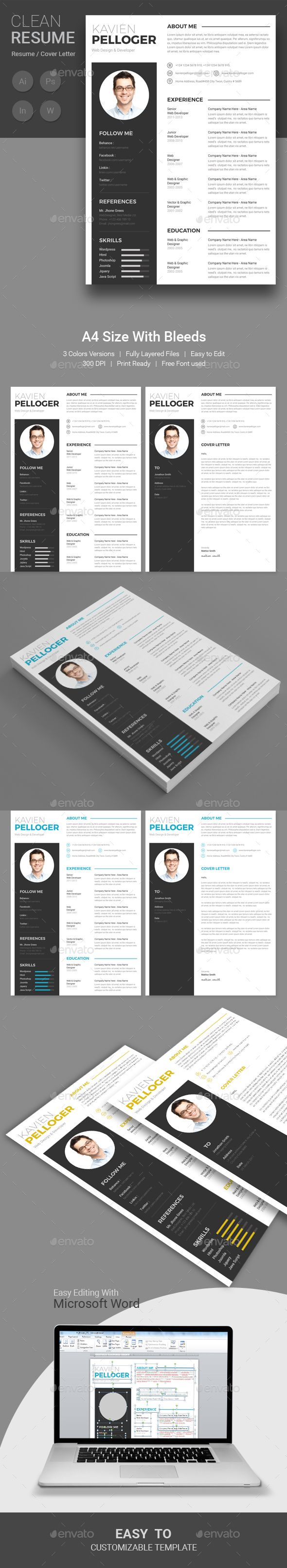 Resume - #Resumes Stationery Download here: https://graphicriver.net/item/resume/19520043?ref=alena994