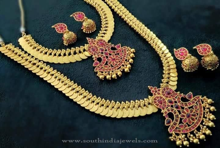 Imitation Bridal Coin Necklace Set from Shobha Creations