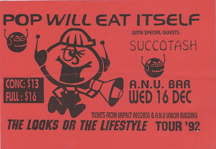 Pop Will Eat Itself, The Looks or the Lifestyle Tour, ANU Bar 16 December 1992