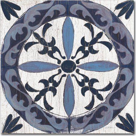Trademark Fine Art Downtown II Indigo and Cream Canvas Art by Silvia Vassileva, Blue