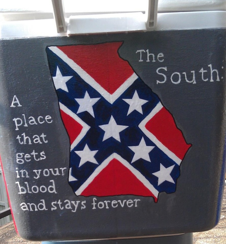 Except maybe with the actual flag of Georgia or a solid color...not the rebel flag.