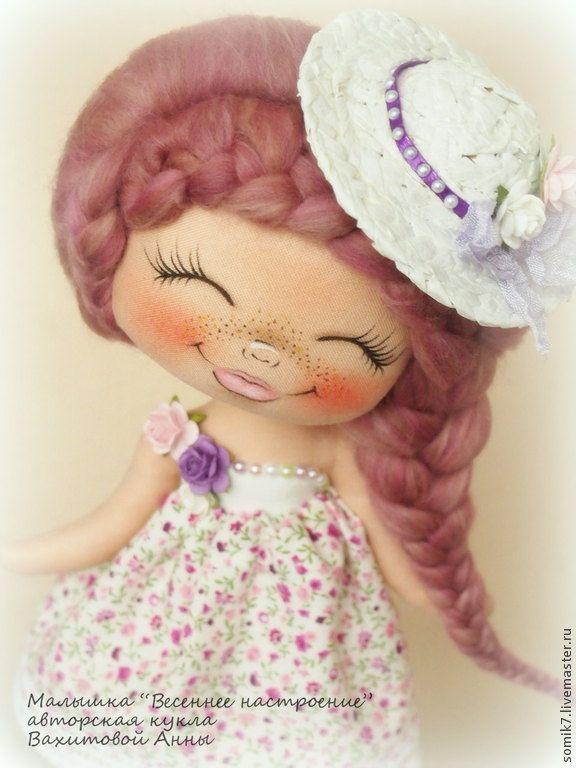 """Купить Малышка """"Весеннее настроение"""" - коллекционная кукла, авторская кукла, единственный экземпляр, кукла"""